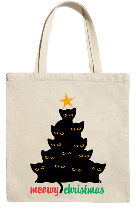 The Cat Christmas Tote Bag