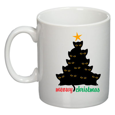 The Cat Christmas Mug
