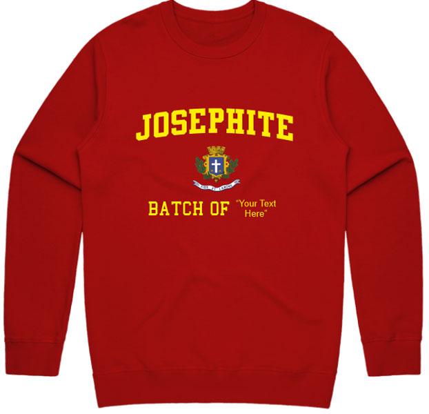 Josephite Sweatshirt With Customizable Batch Year