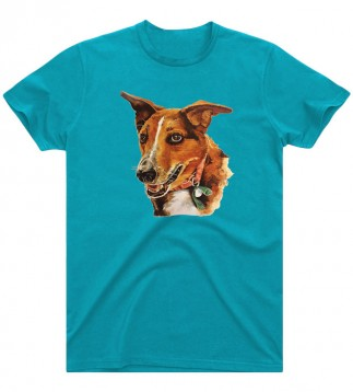 Charlie T- Shirt (Turquoise Blue)