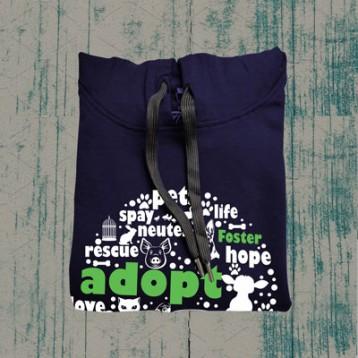 Adopt Hoodie (Navy Blue)