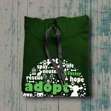 Adopt Hoodie (Bottle Green)