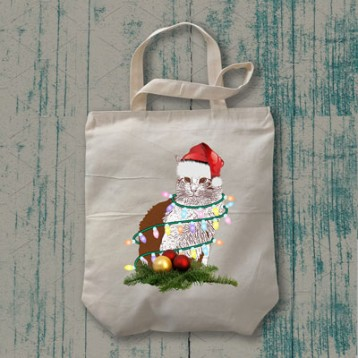 Simon says 'Let's Christmas' Tote Bag