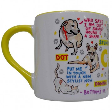 The Wild Bunch Mug by - The Doodle Soup