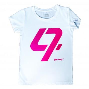 DJ Bravo47 47 Tee Female (White and Pink)