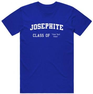 Josephite Round Neck T-shirt With Customizable Class Year