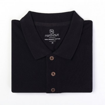 NorthMist Polo Neck Organic T-shirt