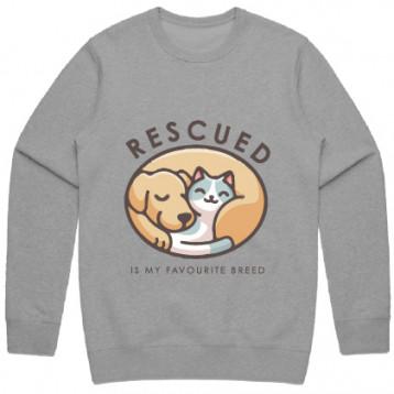 Rescued is my Favourite Breed Sweatshirt