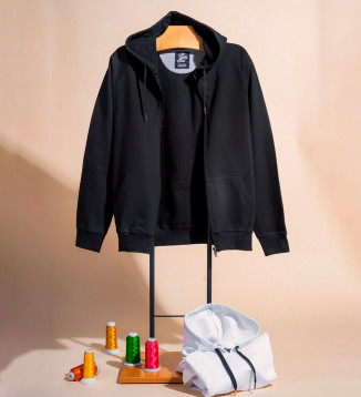 Pure Cotton Hoodie With Zip